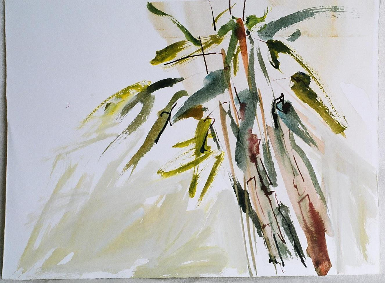 Bamboo in the Wind | Art by Joy A. Kirkwood