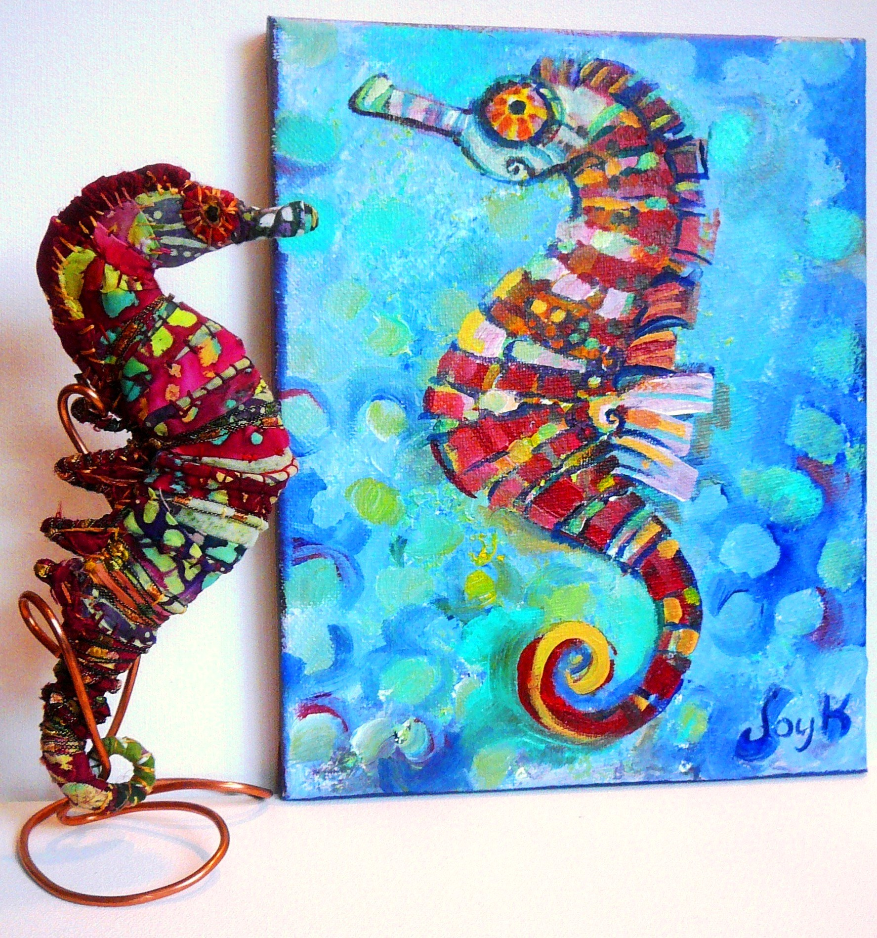 Seahorses art by joy a kirkwood page 3 for Airbrushing mural