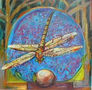 Dragonfly Mandala painting