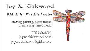 business card dragonfly collage 2