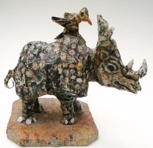 Bird on a Rhino