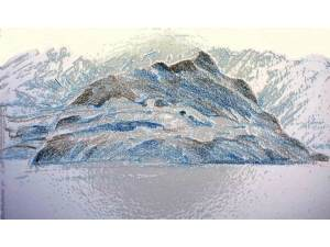 Misted mountain plastic wrap ac