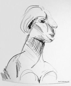 Plaster sculpture Picasso ac