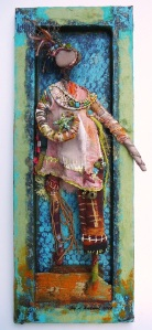 03a-Joy Kirkwood-Star Maiden's Arrival-16X6X1in-mixed media-2013 signed