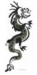 dragon in ink by Joy