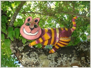 Joy Kirkwood's Cat with a Grin in tree