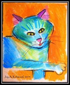 Pop Art Cat in Black Frame