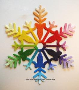 Colour wheel as a Snowflake