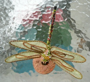 Beaded Dragonfly outside 5